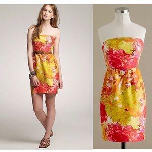 ✨J. crew Strapless Impressionist Dress